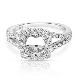 Verragio Insignia Diamond Halo Engagement Ring Setting in 18K White Gold 0.62CTW