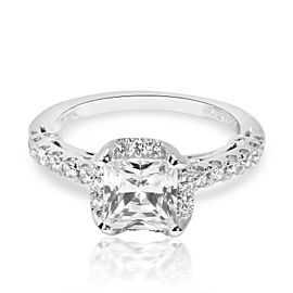 Verragio Diamond Engagement Ring Setting in 18K White Gold 0.30 ctw