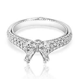 Verragio Cathedral Style Diamond Engagement Ring Setting in 18K Gold 0.37CTW