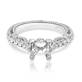 Verragio Insignia Diamond Engagement Ring Setting in 18K White Gold 0.62 CTW