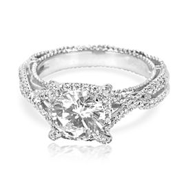 Verragio Diamond Halo Engagement Ring Setting in 18K White Gold (1/3 CTW)