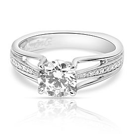Simon G Diamond Engagement Ring Setting in 18K White Gold 0.10 CTW