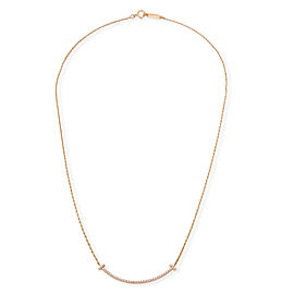 Tiffany & Co. Tiffany T Smile Diamond Pendant in 18K Rose Gold 0.10 CTW