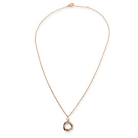 Cartier Trinity Diamond Necklace in 18K 3 Tone Gold 0.05 CTW