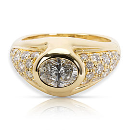 Bulgari Vintage Diamond Cocktail Ring in 18K Yellow Gold G-H VS 1.96 CTW