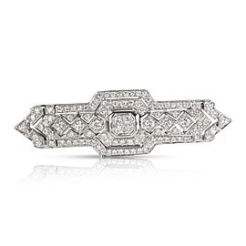 Estate Diamond Brooch in 18K White Gold (1.85 CTW)