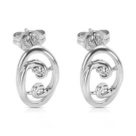 BRAND NEW Diamond Fashion Earrings in 14K White Gold (0.08 CTW)