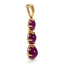 Ruby Drop Pendant in 10k Yellow Gold