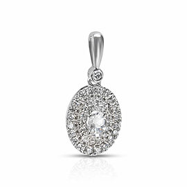 Diamond & White Topaz Pendant in 14k White Gold (0.27 CTW)