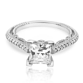 Verragio Diamond Princess Engagement Ring Setting in 18K White Gold