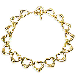 Tiffany & Co. Elsa Peretti Open Heart Links Toggle Bracelet in 18KT Yellow Gold