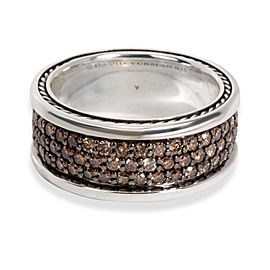 David Yurman Streamline Diamond Band in Sterling Silver 1.84 CTW