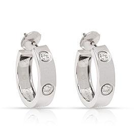 Cartier Love Diamond Hoop Earring in 18K White Gold 0.6 CTW