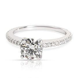 GIA Certified Round Cut Diamond Engagement Ring in F VS1 1.31 CTW