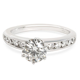 Tiffany & Co. Channel Set Diamond Engagement Ring in Platinum I VS1 1.38 CTW