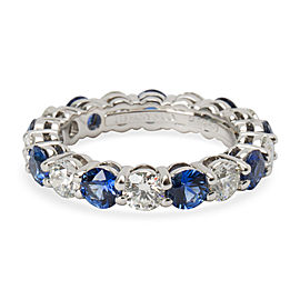 Tiffany & Co. Large Embrace Diamond & Sapphire Band in Platinum (3.24 CTW)