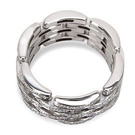 Cartier Diamond Maillon Panthere Ring in 18K White Gold 1.26 CTW