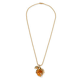 Cartier Panthere Citrine, Lacquer, Tsavorite & Diamond Necklace in 18KT Gold