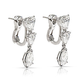 Cartier Diamond Drop Earrings in 18K White Gold (5.22 CTW)