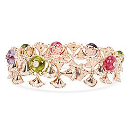 Bulgari Diva's Dream Diamonds, Peridot, Amethyst Bracelet in 18K Gold 5.89 CTW