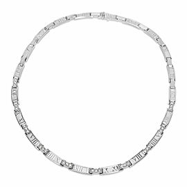 Tiffany & Co. Atlas Collar Diamond Necklace in 18Kt White Gold 1.50ctw