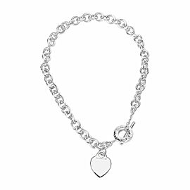 Tiffany & Co. Heart Charm Toggle Necklace in Sterling Silver