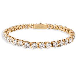 Cartier 3 Prong Diamond Tennis Bracelet in 18K Yellow Gold 9.55 Carats