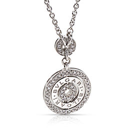 Bulgari Diamond Circle Necklace in 18KT White Gold 1.10 ctw