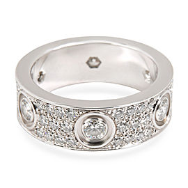 Cartier Diamond Paved Love Ring in 18K White Gold 1.26 CTW