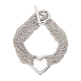 Tiffany & Co. Charming Mesh Heart Bracelet in Sterling Silver