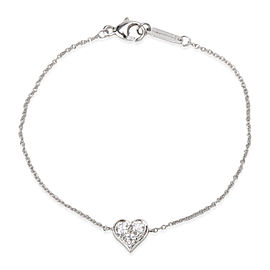 Tiffany & Co. Hearts Diamond Bracelet in Platinum (0.15 CTW)