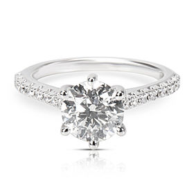 14K White Gold 1.60ct Round H SI2 (AGS) Center Ritani Engagement Ring (1.76ctw)