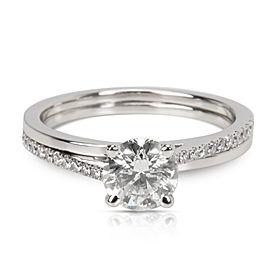 DeBeers 0.72 ct G/SI2 Round Brilliant Engagement Ring in Platinum (0.83 CTW)