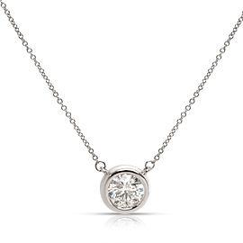 Bezel Set Solitaire Diamond Pendant in 14K White Gold (G-H I1) 1.01CT