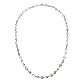 Tiffany & Co. Elsa Peretti Other Link Diamond Necklace in Platinum 6.25 CTW