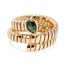 Bulgari Serpenti Garnet Tubogas Ring in 18K Yellow Gold