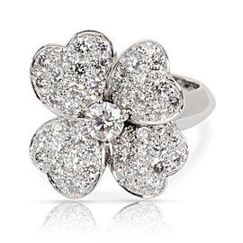Van Cleef & Arpels Cosmos Flower Diamond Ring in 18K White Gold 1.85 CTW