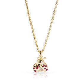 Chopard Happy Diamonds Ladybird Pendant in 18K Yellow Gold 0.05 CTW