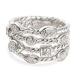 David Yurman Confetti Diamond Ring in Sterling Silver 0.23 CTW