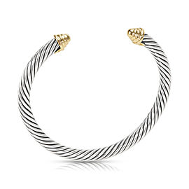 David Yurman 5mm Cable Bangle in 14K Yellow Gold/Sterling Silver