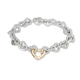 Tiffany & Co. Open Hearts Link Bracelet in 18K Yellow Gold/Sterling Silver