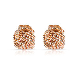 Tiffany & Co. Somerset Knot Stud Earrings in 18K Rose Gold