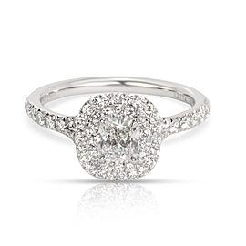 Tiffany & Co. Soleste Halo Diamond Engagement Ring in Platinum E IF 1.05 CTW