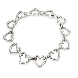 Tiffany & Co. Elsa Peretti Open Heart Bracelet in Sterling Silver