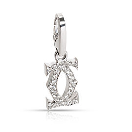 Cartier Double C Diamond Pendant in 18K White Gold 0.24 CTW