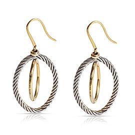 David Yurman Oval Mobile Hoop Earrings in 18K Yellow Gold/Sterling Silver