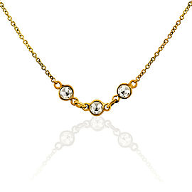 Rock & Divine Spring River Rose Cut Diamond Necklace in 18K Gold F VS2 0.54 ctw