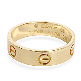 Cartier Love Band in 18K Yellow Gold, Size 63