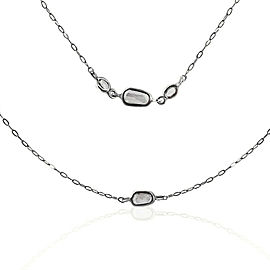 Rock & Divine Morning Light Rose Cut Diamond Necklace in 18K White Gold 2.25 ctw