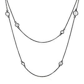 Rock & Divine Full Moon Diamond Necklace in 18K Black Gold F VS2 1.60 CTW